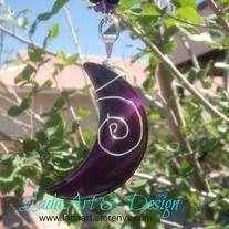 Lada Art & Design on Storenvy  Purple Agate Moon Hanger $12.95