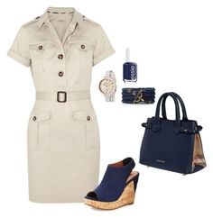 """""""Untitled #79"""" by acngirls ❤ liked on Polyvore featuring Burberry, Essie, Dee Keller and Marc by Marc Jacobs"""