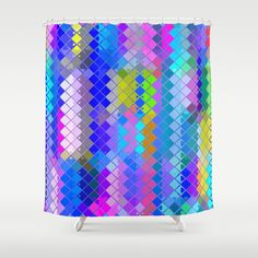 Re-Created  Flying Carpet IV Shower Curtain by Robert S. Lee - $68.00