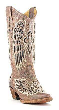 Corral Boots Women's Wing & Cross Cowgirl #Wedding Boots