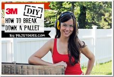How to break apart a pallet for all your DIY projects! Pallet Crates, Pallet Art, Diy Pallet Projects, Diy Projects To Try, Woodworking Projects, Pallet Ideas, Diy Headboards, Recycled Pallets, Pallet Furniture