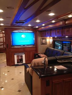 "The new Winnebago Tour features a 55"" HDTV!"