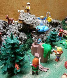 El Angel anuncia la buena nueva a los pastores y leñadores | Pesebre de Playmobil 2014 | Yo Pedro