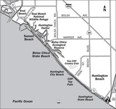 Huntington Beach Ca Trail Map