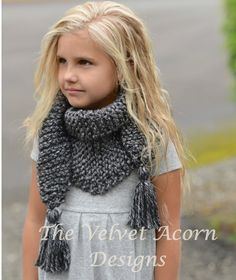 Knitting PATTERN-The Galloway Scarf Small Medium by Thevelvetacorn