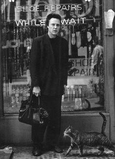 Christopher Walken and a cat