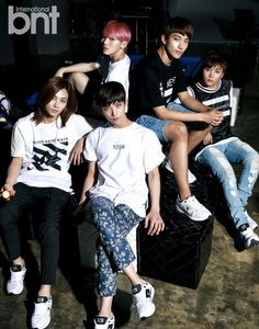 """SEVENTEEN is charming and handsome in first """"bnt"""" pictorial - Vocal Team (L to R): Jeonghan, Joshua, Woozi, DK, Seungkwan"""