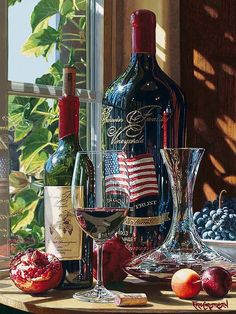 Master watercolorist Eric Christensen is known for his hyper-realistic wine still life paintings. Still Life Artists, Wine Painting, Watercolor Painting, Diamond Paint, Wine Art, Realistic Paintings, Photorealism, Cross Paintings, Fine Wine
