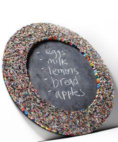 Upcycled Magazine Chalkboard #upcycle #recycled dotandbo.com