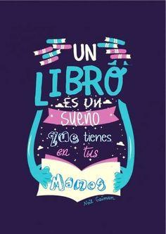 ¡Buenos días! Hoy COmenzamos el día apoyando la lectura porque un libro es un sueño que tienes en tus manos.