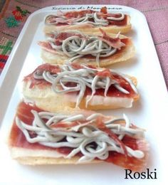Tosta de Jamon y Gulas Appetizer Recipes, Keto Recipes, Cooking Recipes, High Fat Foods, Healthy Sandwiches, Yummy Food, Tasty, Le Chef, Bruchetta