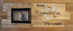 Rustic Love Story Picture Frame Sign - pinned by pin4etsy.com