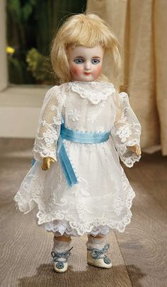 Sanctuary: A Marquis Cataloged Auction of Antique Dolls - March 19, 2016: Petite Sonneberg Bisque Doll with Gorgeous Eyes