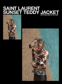 Saint Laurent Sunset Teddy Jacket / In Stores and on ysl.com