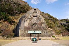 One of Japan's biggest buddha statues: Nihonji Daibutsu on Mt. Nokogiriyama in Chiba Prefecture.