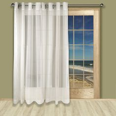 Extra Wide Patio Door Curtain | The Lakeside Collection | Curtains That I  Love | Pinterest | Door Curtains, Patio Doors And Patios