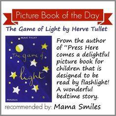 A picture book that is designed to be read by flashlight. So fun!