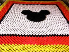 Mickey Mouse Crochet Baby Blanket Pattern : Giant Cal King Size Crochet Mickey Mouse by BlackberryMemories