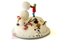 This cake brings back memories of days playing in the snow with my brother growing up in NJ...