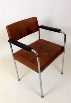 1 ( 2)  Retro  60' Stoll Giroflex vintage Leather armchair Made in Germany