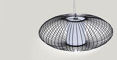 Cage hanglamp, zwart