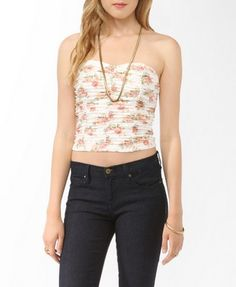 Ruched Colored Lace Tube Top | FOREVER21 - 2000046842