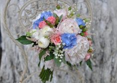 Bridal Bouquet Bianca in Moldova. FlorArt offers bridal bouquets of the most beautiful and fresh flowers. Order round bouquet online, containing: rose. Ranunculus Bouquet, Lily Of The Valley, Fresh Flowers, Peony, Hydrangea, Most Beautiful, Floral Wreath, Wreaths, In This Moment