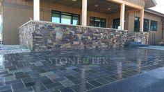Denali blend Recycled Granite Pavers in Bozeman, Montana.