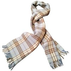 Pre-owned Burberry scarf (€229) ❤ liked on Polyvore featuring accessories, scarves, black, burberry, burberry shawl, fringe scarves, burberry scarves and fringe shawl