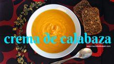 Deliciosa, fácil y rápida crema de calabaza y zanahoria vegana macrobiótica, sin lácteos, sin lactosa, sin mantequilla, sin gluten. Ideal para celíacos porque es una receta sin gluten. También conocida como sopa de zapallo o crema de auyama. Ideal para entrar en calor en la noche de Halloween (o el