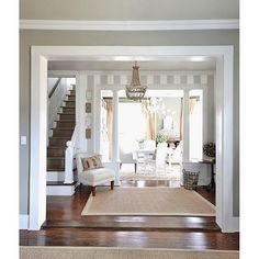 (@thistlewood) | When we remodeled the farmhouse we enlarged the opening in this wall to make the rooms flow together.#farmhousedecor | Intagme - The Best Instagram Widget