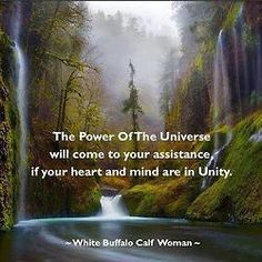 The powerof the Universe....White Buffalo Calf Woman