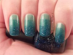 Ombre with Sinful Colors Mint Apple and OPI's Get your Number
