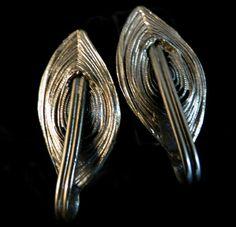 Tortolani Signed Earrings  Artistic Vintage by MyDellaWear on Etsy, $40.00