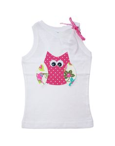 Kids Clothes Toddler Girl Clothes Tank Top with Owl by itsyglam, $17.99