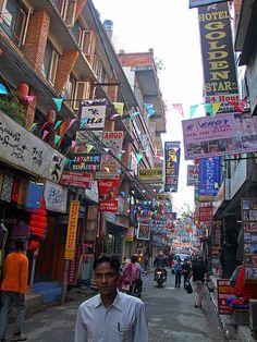Kathmandu, Nepal - walked down this street