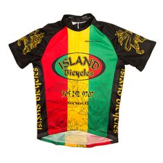Cycling Jersey - Rasta · Island Bicycles · Online Store Powered by Storenvy