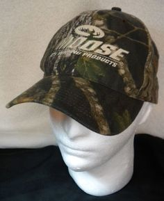 MOOSE ATV Hunting Products Camo Cap Camouflage Snapback Hat Advertising Gear  #Unbranded