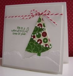 Folded Christmas Tree - TLC403, FS301 by Loll Thompson - Cards and Paper Crafts at Splitcoaststampers