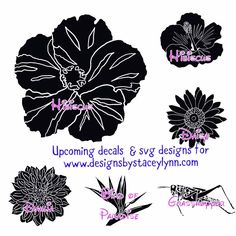 Flower decal designs