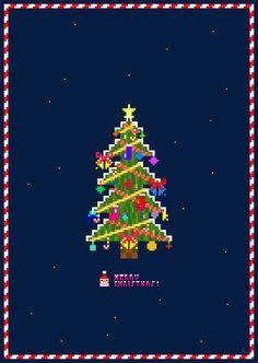 Pixel art 54 (Christmas tree) by jaebum joo, via Behance