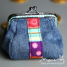 Denim coin purse - front by tobit_e, via Flickr