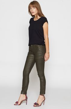 JOIE Park Skinny B Coated Pant. #joie #cloth #