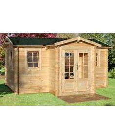 Large garden shed/shack záhradkári Garden Buildings, Garden Structures, Outdoor Structures, Garden Log Cabins, Timber Companies, Porch Area, Inside Outside, Uk Homes, Garden Crafts