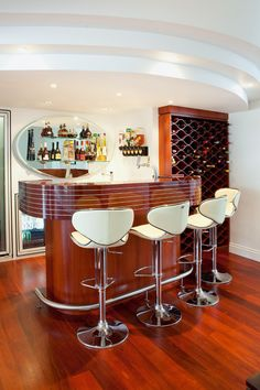 Retro bars tiki bars bookshelf bars barware ideas more on pinterest tiki bars tiki room - Deco bar design ...