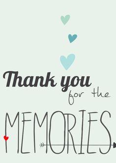Thank you for the memories, verkrijgbaar bij #kaartje2go voor €0,99
