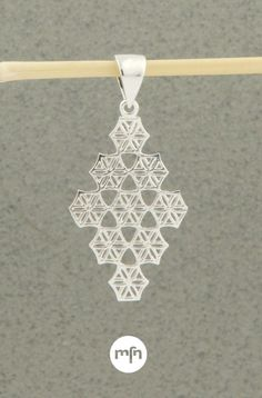 Flower of Life Diamond Pendant, Sterling Silver Flower Of Life Pattern, Meaningful Jewelry, Inspirational Message, Diamond Shapes, Art And Architecture, Diamond Pendant, Circles, Delicate, Symbols