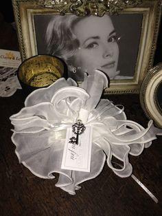 Coll. Fru Fru', nastro in organza , chiave di Tiffany , si stacca e diventa una collana.