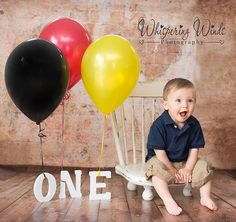 First birthday picture, Ethan!