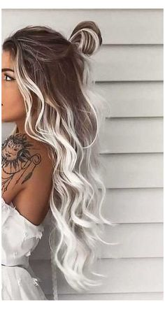 Medium Brown Hair Color, Hair Color For Black Hair, Brown Hair Colors, Fall Hair Colors, Hair Colours, White Ombre Hair, Gorgeous Hair Color, Cool Hair Color, Vivid Hair Color
